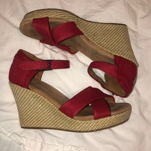 Womens Toms Wedges, Size 8